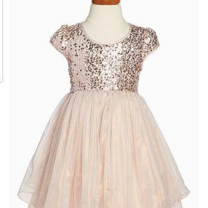 Rose gold sequins dress